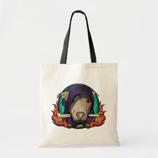 El señor del perro bolsa tela barata