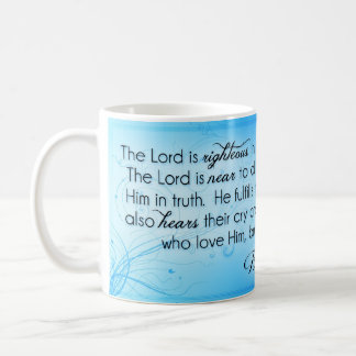 El señor es el 145:17 honrado del salmo del ~ - 20 taza clásica