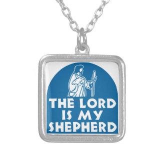 El señor es mi azul del pastor colgante cuadrado