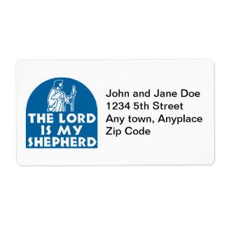 El señor es mi azul del pastor etiquetas de envío
