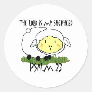 El SEÑOR es mi camiseta U del niño del salmo 23 Pegatina Redonda