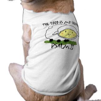 El SEÑOR es mi camiseta U del niño del salmo 23 Playera Sin Mangas Para Perro