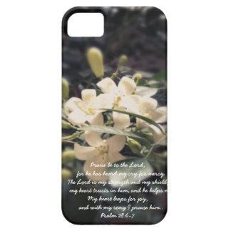El señor es mi fuerza y escudo - iPhone del jazmín iPhone 5 Cárcasas