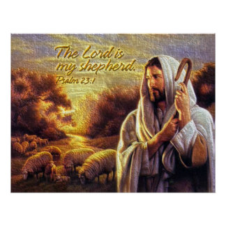 El señor es mi impresión del pastor póster