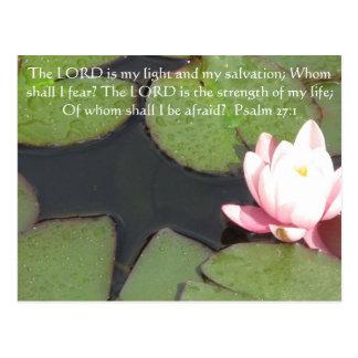 El SEÑOR es mi luz - 27 1 del salmo Tarjetas Postales