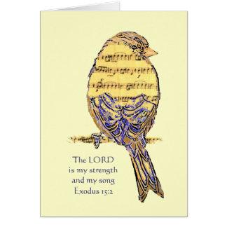 El señor es mi pájaro de la escritura de la biblia