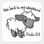 El señor es mi pastor calcomanías cuadradas