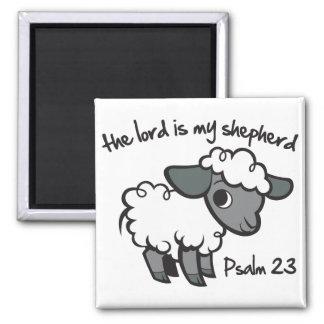 El señor es mi pastor imán cuadrado