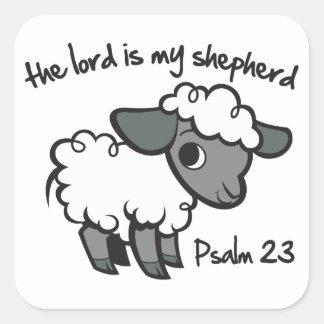 El señor es mi pastor pegatina cuadrada