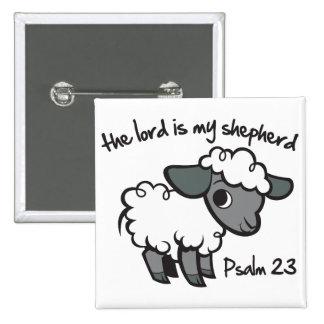 El señor es mi pastor pin cuadrado