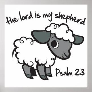 El señor es mi pastor póster