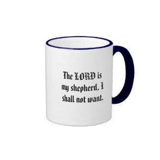El SEÑOR es mi pastor yo no querrá Tazas De Café