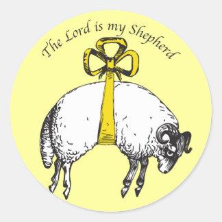 El SEÑOR es mi pegatina del salmo 23 del pastor