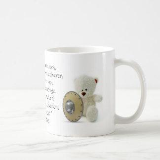 El SEÑOR es mi taza del oso de peluche del escudo