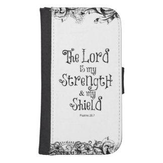 El señor es mi verso de la biblia de la fuerza funda billetera para teléfono