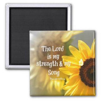 El señor es mi verso de la biblia de la fuerza y imán cuadrado
