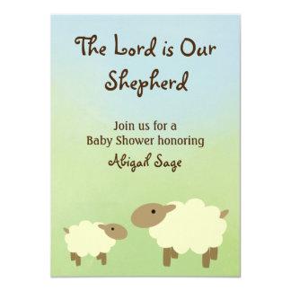 """El señor es nuestra oveja del pastor que la fiesta invitación 4.5"""" x 6.25"""""""