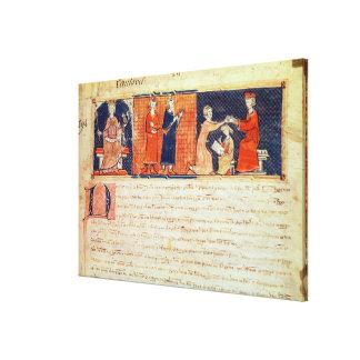 El señor feudal que predica su sermón impresion de lienzo