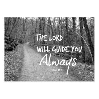 El señor le dirigirá verso de la biblia tarjetas de visita grandes