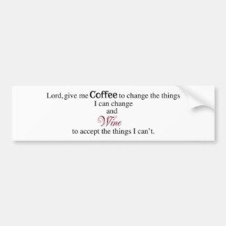 El señor, me da el café… pegatina para auto