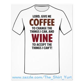 """El señor, me da el café y el vino folleto 4.5"""" x 5.6"""""""