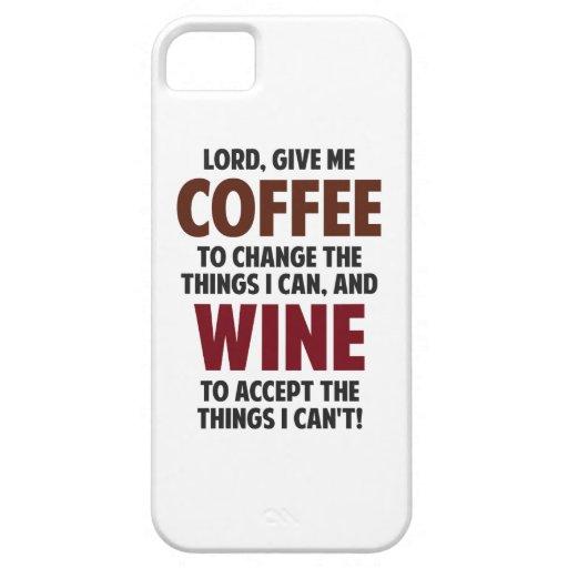 El señor, me da el café y el vino iPhone 5 Case-Mate funda
