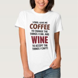 El señor, me da el café y el vino playera