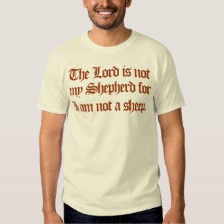 el señor no es mi pastor remera