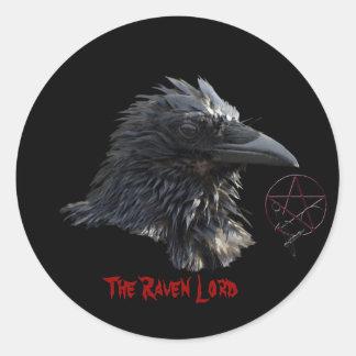 """""""El señor"""" pegatina del cuervo"""