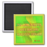 El señor perdona nuestros pecados… imán para frigorífico