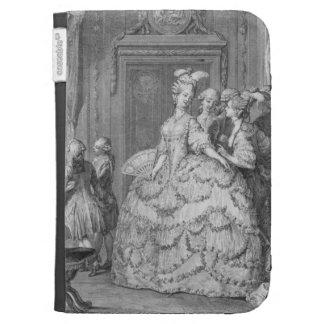 El Señora-en-Esperar de la reina, grabado por P.A.