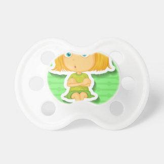 El sentarse chupete de bebe