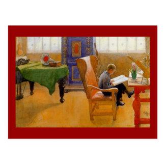 El sentarse en la butaca postales
