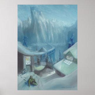 El sentarse en la nieve - poster