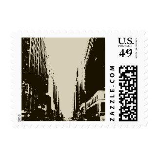 El sentarse en las calles del invierno de la sellos