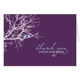 El sentarse en un árbol le agradece observar tarjeta pequeña