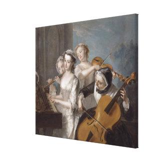 El sentido de la audiencia, c.1744-7 (aceite en lo impresiones en lona estiradas