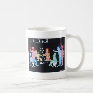 El sentido de la llegada tazas de café