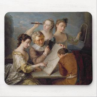 El sentido de la vista, c.1744-47 (aceite en lona) mouse pad