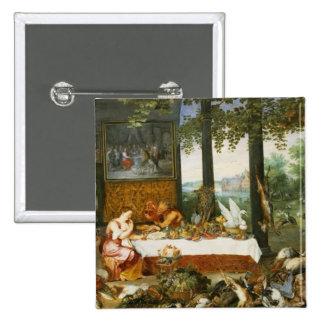 El sentido del gusto, 1618 pin cuadrada 5 cm