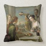 El sentido del gusto, c.1744-47 (aceite en lona) cojín decorativo