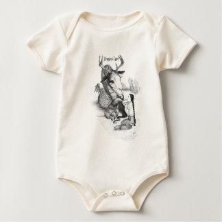 El señuelo del dragón para el bebé body para bebé