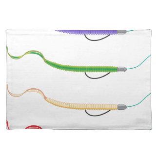 El señuelo plástico suave de la pesca del aparejo mantel individual