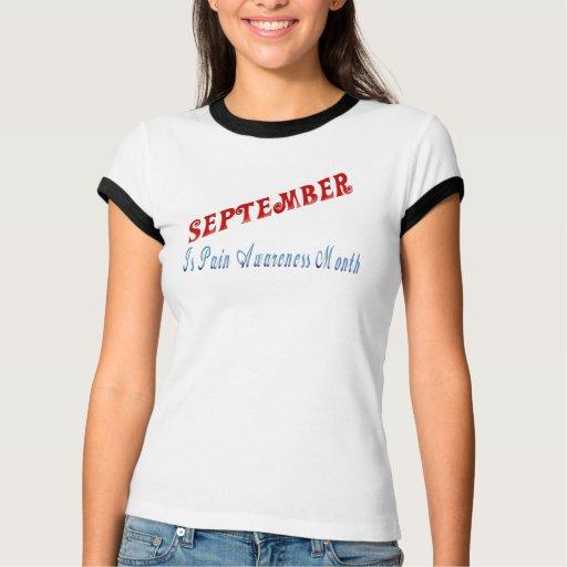 el *September es mes de la conciencia del dolor Playera