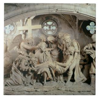 El sepulcro de Pascua, 1554-64 (piedra) Azulejo Cuadrado Grande