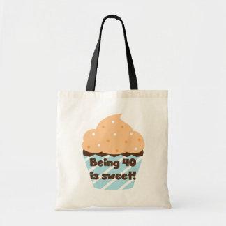 El ser 40 es camisetas y regalos dulces del bolsa de mano