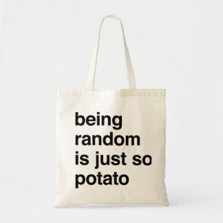 El ser al azar es patata bolsa tela barata