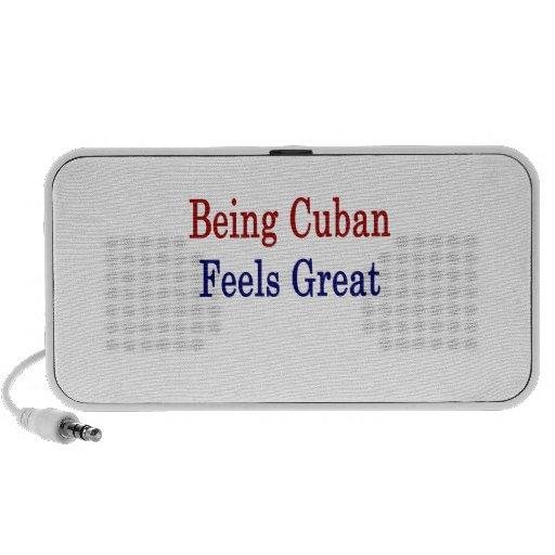 El ser cubano siente grande notebook altavoces
