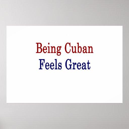 El ser cubano siente grande poster