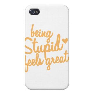 ¡el ser estúpido siente grande! iPhone 4/4S carcasas